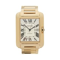Cartier Tank Anglaise 18k Yellow Gold Gents 3505 or W5310018 -...