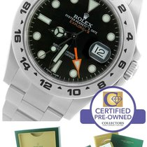 롤렉스 (Rolex) Explorer II 42mm 216570 Black Orange Stainless GMT...