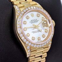 Rolex President 69178 Datejust 18k Yellow Gold Mop Diamond...