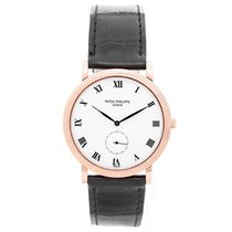 Patek Philippe Calatrava 18k Rose Gold Men's Watch 3919 R...