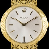Rolex 18k Yellow Gold Silver Baton Dial Cellini Gents 3640