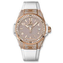 Hublot Big Bang One Click King Gold White Full Pavé