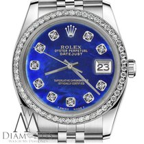 Rolex 26mm Women's Datejust Blue Color Treated Mop Mother...