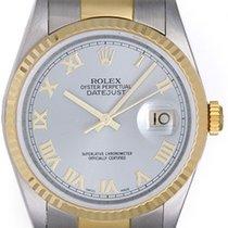 Rolex Datejust Men's 2-Tone Steel & Gold Watch Rhodium...