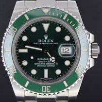 Ρολεξ (Rolex) Submariner Date Steel Green Dial Full Set 2012 MINT