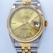 Rolex Datejust 16233 Jubilee 36mm 18k Yellow Gold /ss Sticks...