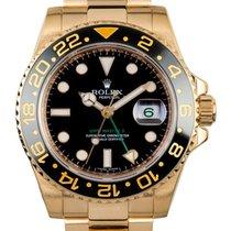 ロレックス (Rolex) GMT-MASTER II 40mm 18K Yellow Gold Watch Ceramic...