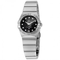 Omega Constellation Diamond Black Dial Stainless Steel Quartz