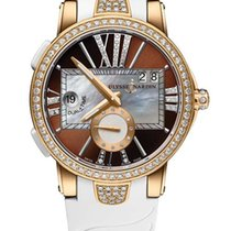 Ulysse Nardin Executive Dual Time 18K Rose Gold & Diamonds...