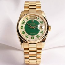 Rolex Day-Date 118238 Limited Edition Green Enameled Diamond 18K