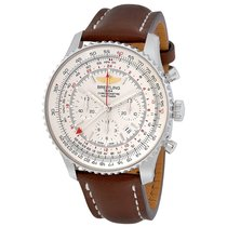Breitling Navitimer GMT Chronograph Brown Leather Men's...
