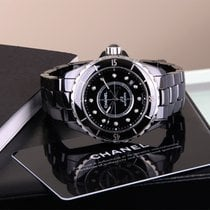 Chanel J12 Automatic Black Ceramic, Diamond Set, Box, Papers,...