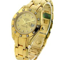 Rolex Unworn 80318 Ladys YG Masterpeice with 12 Diamond Bezel...