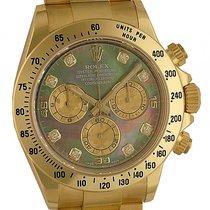 Rolex Daytona Cosmograph 40mm Gelbgold Diamond Perlmutt Ref....