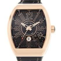 Franck Muller Vanguard 18k Rose Gold Black Automatic V 45 Sc...