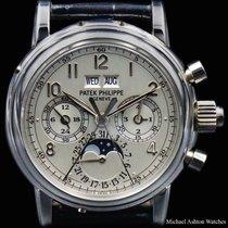 Patek Philippe Ref# 5004P Perpetual Split Chronograph Silver...