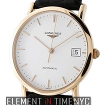 Longines Presence 18k Rose Gold White Index Dial 35mm 2013