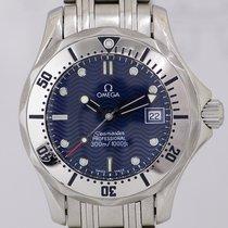 Omega Seamaster Professional Lady 300m Edelstahl Quartz blue...
