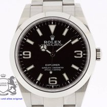 Rolex Explorer 214270 Blue Luminova 2016 Box & Swiss Papers