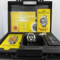 Breitling Emergency STAHL von 2002 KOMPLETT mit Zubehör