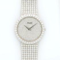 Piaget White Gold Full Diamond Bracelet Watch