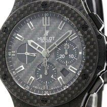 Hublot Big  Bang All Black Carbon Chronograph Mens Watch...