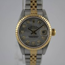 Rolex Lady-Datejust Perlmutt Diamond Dial LC 100 #A3266 Full Set