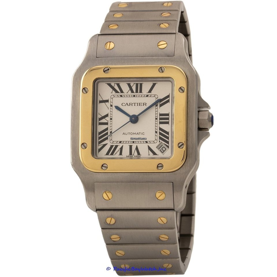 Cartier Santos Galbee Men's W20099C4 Pre-Owned for Rs. 307,208 for sale  from a Trusted Seller on Chrono24