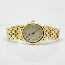Chaumet Ladies 18k Yellow Gold Quartz Timepiece On Bracelet