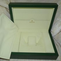 Rolex LARGE JUMBO GREEN WOODEN WAVE WATCH BOX / CASE HOLDER