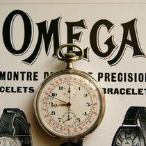 Omega Silber 900 Antike Taschenuhr Chronograph 7 Medaille