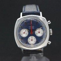 Hema Handaufzug Chronograph Blue Dial Valjoux 72