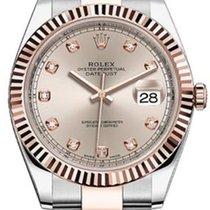 Rolex Datejust 41 126331 Sundust Diamond Fluted Rose Gold...