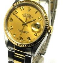 Rolex Datejust 2tone Edelstahl 18kt Gold Ref 16223 E Serie 1990