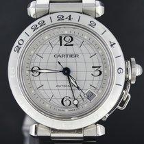 Cartier Pasha C Steel, GMT Automatic 35MM Full Set 2006 MINT 2377