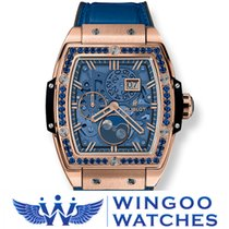 Hublot SPIRIT OF BIG BANG MOONPHASE KING GOLD DARK BLUE Ref....