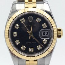 Rolex Datejust 26 Black Dial Diamonds Stainless Steel &...
