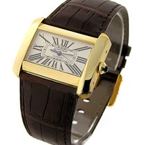 Cartier W6300856 Tank Divan in Yellow Gold - on Brown Leather...