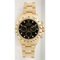 Rolex Daytona 116528 18K Yellow Gold With Factory Black Dial -...