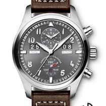 IWC Pilot`s Watch Perpetual Calendar Digital Date-Month Spitfire