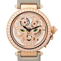 Cartier Pasha De Cartier 18 K Rose Gold With Diamonds Transpar...