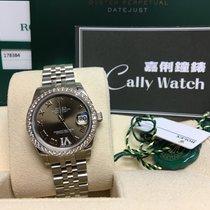 Rolex Cally - Datejust 31mm 178384 Brown VI Roman Jubilee