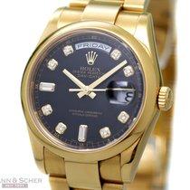 Rolex Day Date Ref-118208 18k Yellow Diamond Dial Gold Box...
