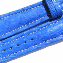 Breitling Band 22mm Croco Blue Azul Blau Strap Ib017