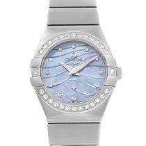 Omega Constellation Quartz 24 Mop Diamond Watch 123.15.24.60.5...