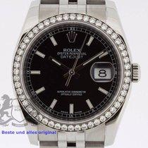 Rolex Datejust 116244 Diamond Bezel Box & Swiss Papers 2014