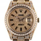 Rolex Datejust II Custom Gelbgold Full Diamond 14ct Automatik...