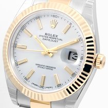 Rolex 41mm 18K/SS Datejust ll White Stick 116333 Unworn Model