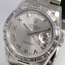 Rolex DAY-DATE PT950 baguette cut diamond mens 18366