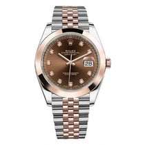 Rolex Datejust II Steel and Rose Gold Chocolate Diamond Dial 41mm
